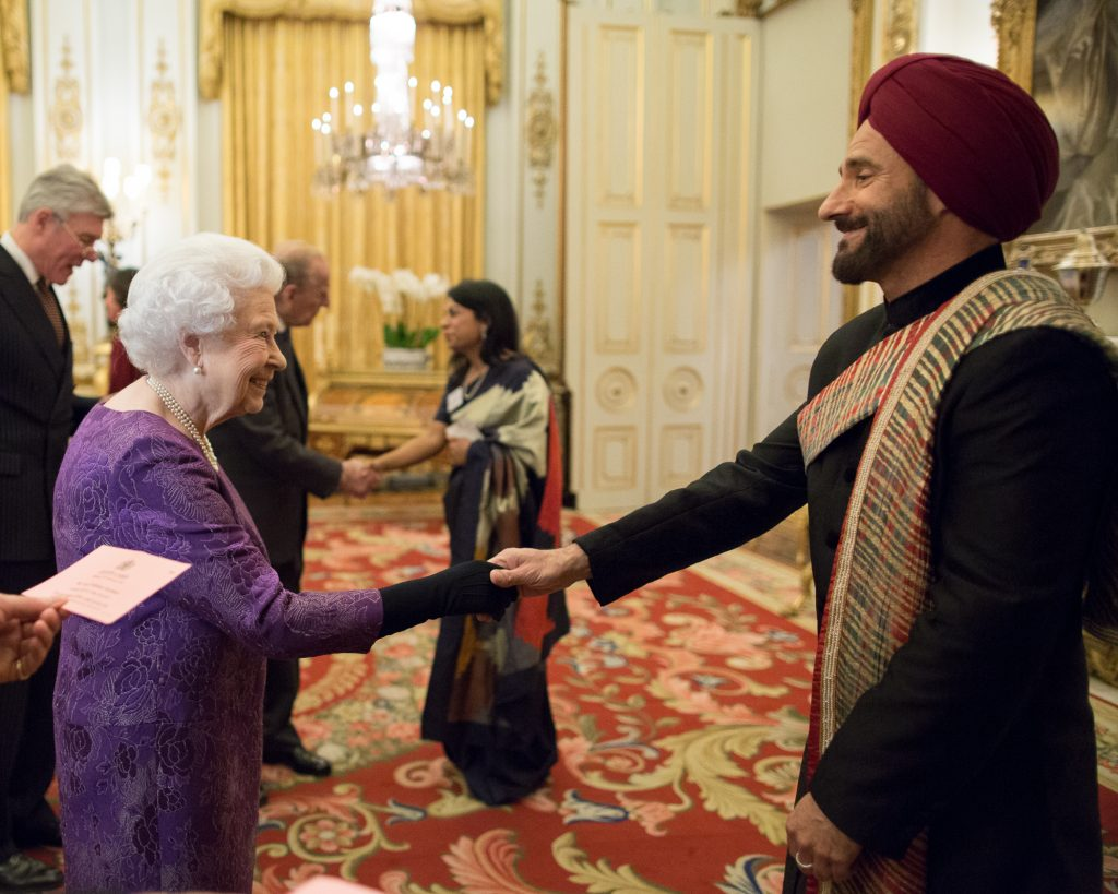 LIIF Director Cary Sawhney meets the Queen