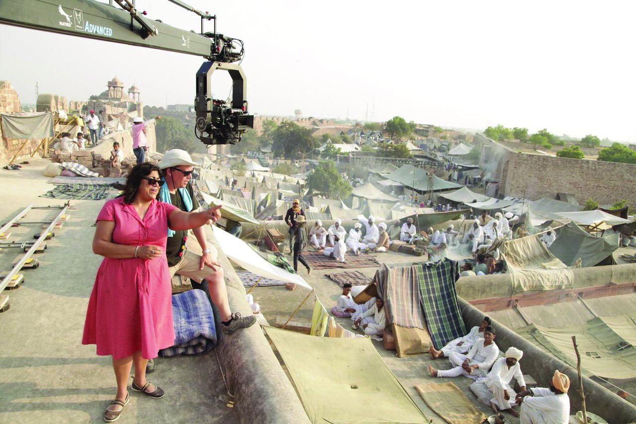 Gurinder Chadha directing refugee camp VH